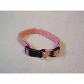Service Manual Halsband Wildleder 10mmx25cm Beatin mit einer Kunststoff-Schnalle, Rosa