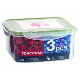 Benutzerhandbuch für Lebensmittel-Container Tescoma FRESHBOX 3pcs, 0.4, 0.7, 1,2 l