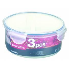 Bedienungshandbuch Lebensmittel-Container Tescoma FRESHBOX 3pcs, 1.5, 2.3, 2,2 l