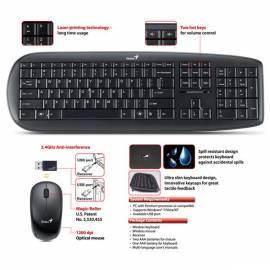 Benutzerhandbuch für GENIUS Slimstar-Tastatur-Maus 8000 X (31340039106)