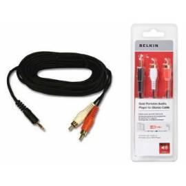 Patch Kabel BELKIN 3, 5mm Jack-Cinch, 1, 5m (F8V3013cp1.5MG) Bedienungsanleitung