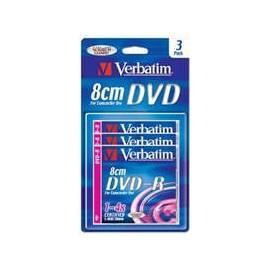Handbuch für VERBATIM DVD-R (3-pack)8cm/BlisterPack/4x/30min./1.4GB der Festplatte