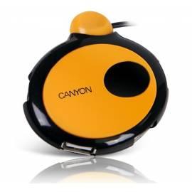 Benutzerhandbuch für USB HUB CANYON CNR-USBHUB10 4-Port USB 2.0, schwarz-orange