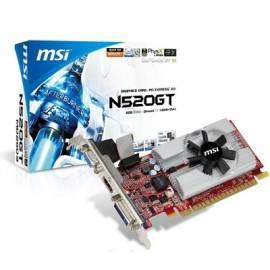 Bedienungshandbuch VGA MSI nVidia N520GT-MD2GD3/LP, GDDR3 2GB