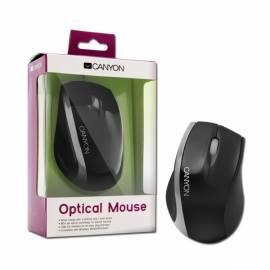 Datasheet Mouse optisch, 800 dpi, CANYON 3tl + Rad, USB 2.0, schwarz-silber, neu verpacken