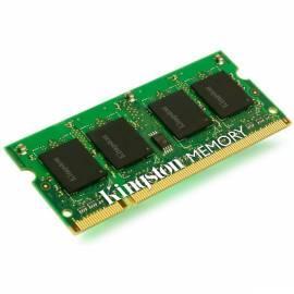 Notebook-Speicher RAM Kingston 2GB 1333MHz Bedienungsanleitung