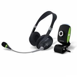 Headset CANYON CNR-Chat Pack 2 Webcam 0.3mpx Sluchatka s Mikrofonem + Seestern, neue Verpackung Gebrauchsanweisung