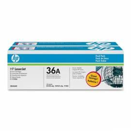Bedienungsanleitung für HP Toner schwarz, 2er-Pack CB436AD