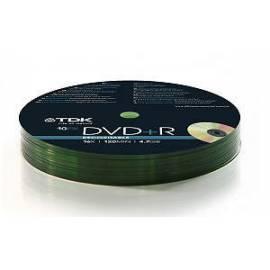 TDK DVD + R 16 x Shrink Wrap Spindl 10 ks /pack der Festplatte Gebrauchsanweisung