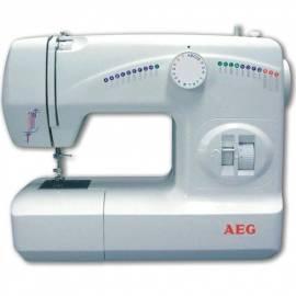 Benutzerhandbuch für AEG NM 210 Nähmaschine kostenlos 10 Jahre Garantie