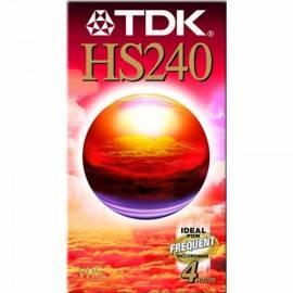 Handbuch für VHA Kazeta TDK E-240HS 240min. 5ks/pack