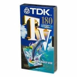 Benutzerhandbuch für VHA Kazeta TDK E-180TV 180min., 5ks/Pack