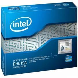 MB Intel DH61SA, H61, DDR3-1333, 2xSATA2, GBLAN, VGA, mATX, BOX Gebrauchsanweisung