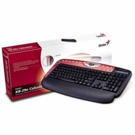 Handbuch für Tastatur Genius KB-29e-PS/2-Rechner, multimedia, rot, Slowakisch