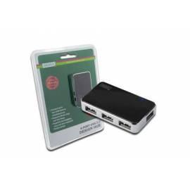 DIGITUS USB-Hub USB 2.0 high-Speed-Hub 4-Port, schwarz, inkl. Power supply