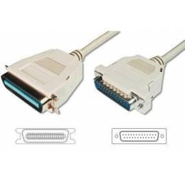 DIGITUS Kabel DB25 Drucker/Centronix36, 1, 8 m, IEEE-1284 Bedienungsanleitung