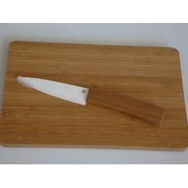 Bedienungshandbuch Keramikmesser und Bambus-Schneidebrett HD Home Design (A03530), Keramik weiß, natürlichen Bambus-Griff