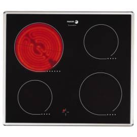 Handbuch für Keramik Glas Kochfläche FAGOR 2VFP-400 t X schwarz/Edelstahl/Glas
