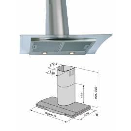 Handbuch für Dunstabzugshaube Meer OP57140090 Aluminium/Glas