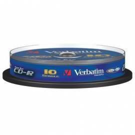 Aufzeichnungsmedium DLP für VERBATIM CD-R 700MB / 80min, 48 X, Kristall, 10-Kuchen (43429) - Anleitung