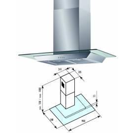 Hood Bauknecht BT 52,9 GL Silber/Glas