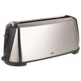 Toaster BRAUN HT 600 Metal Line Edelstahl