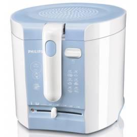 PHILIPS Fritteuse HD 6103/70 weiß/blau Bedienungsanleitung