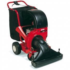 Garten Vakuum MTD 202 schwarz/rot