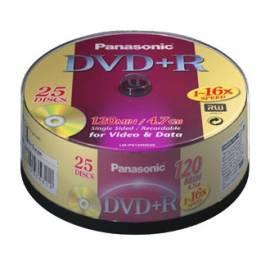 Ihre Aufnahmemedium ist ein PANASONIC DVD + R Disk-LM-PS120NE25 Bedienungsanleitung