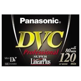 Handbuch für Die Kassette in Videokamera PANASONIC Videokassette MiniDV AY-DVM80YE Profesional