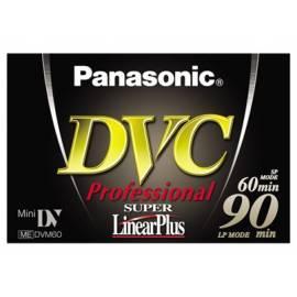 Die Kassette in Videokamera PANASONIC Videokassette MiniDV AY-DVM60YE Profesional - Anleitung