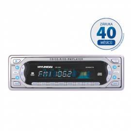 Bedienungsanleitung für CD-Autoradio mit HYUNDAI CR 1005 Silber