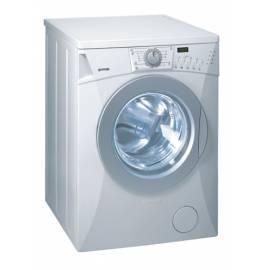 Handbuch für Waschmaschine GORENJE WA 72105 exklusive reinweiß