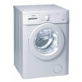 Waschvollautomat GORENJE Classic WA 50105 weiß - Anleitung