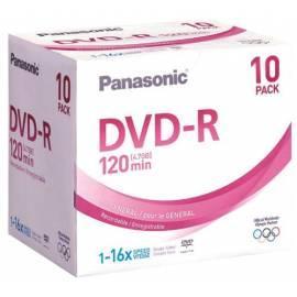Bedienungsanleitung für Ihre Aufnahmemedium ist eine PANASONIC DVD-R-Disc LM-RF12NE10P