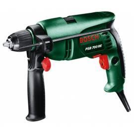Bedienungsanleitung für Bohren Sie manuelle BOSCH PSB 700 RE schwarz/grün