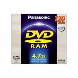 Ihre Aufnahmemedium ist ein PANASONIC DVD-RAM-Datenträger LM-AB120LE Bedienungsanleitung
