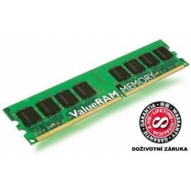 Bedienungshandbuch Speichermodul KINGSTON 1 GB DDR2 800 MHz Non-ECC CL6 (KVR800D2N6 / 1G)