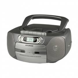Boombox mit CD HYUNDAI TRC 566 und grau Bedienungsanleitung