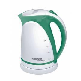 Elektrische Wasserkocher RK ANIMA Konzept-2190 weiß/grün Gebrauchsanweisung