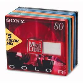 Minidump SONY 80 min, Farbe Bedienungsanleitung