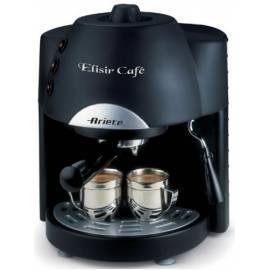 Bedienungshandbuch Espresso: ARIETE Elisir Kaffee SCARLETT-1331 auf Kapsel schwarz