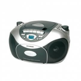 HYUNDAI TRC591A CD Radio Kassette mit Silber/grau Bedienungsanleitung