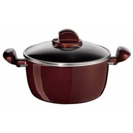 Bedienungsanleitung für TEFAL Cookware Eleganz D2804652 schwarz/rot/Glas