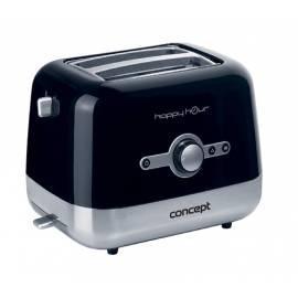 Happy Hour Konzept Toaster TE-2030 Schwarz/Edelstahl Gebrauchsanweisung