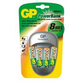Datasheet Ladegerät GP PowerBank PB27 GS + 4 X GP270AAHC Silber